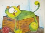 Obras de arte: America : Chile : Valparaiso : viña_del_mar : cosas de gato verde