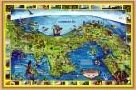 Obras de arte: America : Panamá : Panama-region : BellaVista : MAPA CONMEMORATIVO DE LA TRANSFERENCIA DEL CANAL
