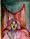 Obras de arte: America : México : Chiapas : Tuxtla : Retrato necro 2