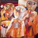 Obras de arte: America : Perú : Lima : miraflores : musicos