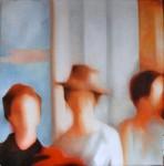 Obras de arte: Europa : España : Aragón_Huesca : Jaca : En segundo plano: 3 mujeres y un sombrero