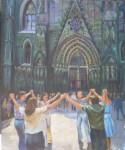 Obras de arte: America : Argentina : Buenos_Aires : Capital_Federal : Sardana frente a la Catedral