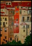Obras de arte: Europa : España : Valencia : Alicante : casas colgadas