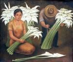 Obras de arte: America : México : Mexico_Distrito-Federal : iztapalapa : Vendedores de flores