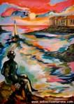 Obras de arte: Europa : España : Catalunya_Girona : La_Escala : El principito y el mar