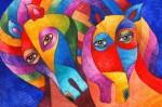 Obras de arte: America : Estados_Unidos : Florida : miami : Arlequines