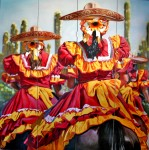 Obras de arte: America : México : Baja_California_Sur : lapaz : Mujeres Escaramuzas