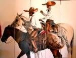 Obras de arte: America : México : Baja_California_Sur : lapaz : Charros mexicanos al lienzo