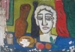 Obras de arte: America : Argentina : Cordoba : Cordoba_ciudad : Cabeza de yeso-Ciro Campos-1