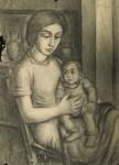 Obras de arte: America : Argentina : Cordoba : Cordoba_ciudad : Mujer con niño -Ciro campos-