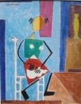 Obras de arte: America : Argentina : Cordoba : Cordoba_ciudad : Mujer en la cocina-Ciro Campos-