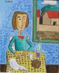 Obras de arte: America : Argentina : Cordoba : Cordoba_ciudad : Mujer en la cocina-Ciro Campos-2
