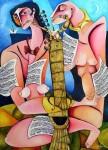 Obras de arte: America : Cuba : Ciudad_de_La_Habana : miramar_playa : Pareja musical