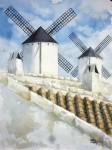 Obras de arte: Europa : España : Castilla_la_Mancha_Ciudad_Real : Ciudad_Real : Tejados y Molinos