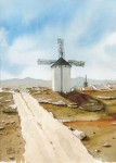 Obras de arte: Europa : España : Castilla_la_Mancha_Ciudad_Real : Ciudad_Real : Molino y pueblo