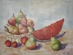 Obras de arte: Europa : España : Catalunya_Barcelona : Sitges : FRUTAS EN LA CESTA