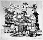 Obras de arte: America : Uruguay : Maldonado : mascaras : Charlatán con oyentes