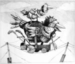 Obras de arte: America : Uruguay : Maldonado : mascaras : Mamarrachos del alambre