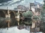 Obras de arte: Europa : España : Andalucía_Málaga : Málaga : Puente sobre el Miño