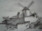 Obras de arte: Europa : España : Castilla_la_Mancha_Ciudad_Real : Ciudad_Real : Detrás del tejado