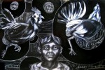 Obras de arte: America : México : Chiapas : Tapachula : pollero