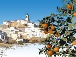 Obras de arte: Europa : España : Andalucía_Málaga : Yunquera : Yunquera con las Naranjas