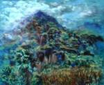 Obras de arte: America : México : Morelos : cuernavaca : Tepoztlán Nublado