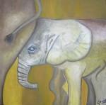 Obras de arte: America : Perú : Lima : miraflores : El Elefante y su Mama