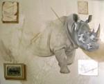 Obras de arte: America : México : Jalisco : Guadalajara : rhino