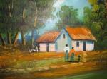 Obras de arte: America : Colombia : Distrito_Capital_de-Bogota : Bogota_ciudad : DAMAS EN EL PAISAJE