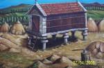 Obras de arte: Europa : España : Galicia_Pontevedra : CALDAS_DE_REIS : horreo