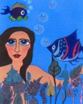 Obras de arte: America : Argentina : Buenos_Aires : La_Plata : Mujer acuàtica