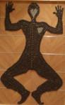 Obras de arte: Europa : España : Extremadura_Badajoz : badajoz_ciudad : Hombre de hierro caido en el suelo.