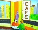 Obras de arte: Europa : Portugal : Setubal : Sesimbra : Café - homenagem a Hopper