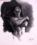 Obras de arte: America : Colombia : Cundinamarca : BOGOTA_D-C- : A la espera  - serie