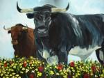 Obras de arte: Europa : España : Andalucía_Jaén : jaen : TOROS EN EL CAMPO