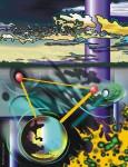 Obras de arte: America : Perú : Ucayali : PUCALLPA : Paisaje ucayalino con toque cósmico