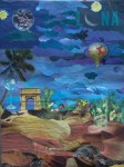 Obras de arte: America : Argentina : Buenos_Aires : La_Plata : Viajando en mi fantasìa nocturna