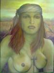 Obras de arte: America : México : Durango : durango_ciudad : MUJER   CON  PALIACATE