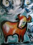 Obras de arte: America : Uruguay : Montevideo : Montevideo_ciudad : BULL IN BOLOGNE BEACH