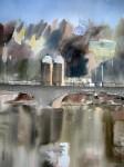 Obras de arte: Europa : España : Madrid : Alcorcón : Madrid desde el Puente de Toledo