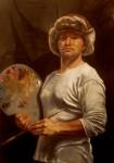 Obras de arte: America : Colombia : Cundinamarca : BOGOTA_D-C- : autorretrato con gorro de cosaco