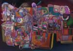 Obras de arte: America : Colombia : Santander_colombia : Bucaramanga : INTEGRACIONISMO GEOMETRICO - MARROQUINERIA