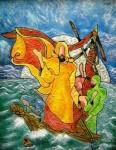 Obras de arte: America : Colombia : Santander_colombia : Bucaramanga : Jesus sobre las aguas