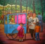 Obras de arte: America : México : Mexico_Distrito-Federal : iztapalapa : Un domingo en el parque