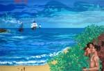 Obras de arte: America : Puerto_Rico : San_Juan_Puerto_Rico : Luquillo : 19 de Noviembre de 1493