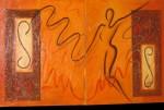Obras de arte: America : Perú : Piura : Catacaos : silueta femenina