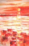 Obras de arte: Europa : España : Catalunya_Tarragona : Banyeres_Penedes : Atardecer