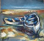 Obras de arte: Europa : España : Catalunya_Tarragona : Banyeres_Penedes : Apuntes barcas