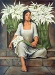 Obras de arte: America : México : Mexico_Distrito-Federal : iztapalapa : Muchacha con alcatraces